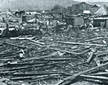 Picture of Rubble from the Tri-State Tornado