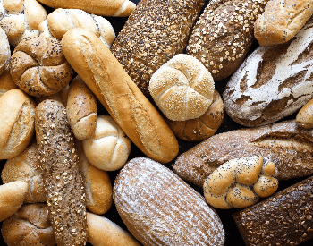 A picture of different types of bread