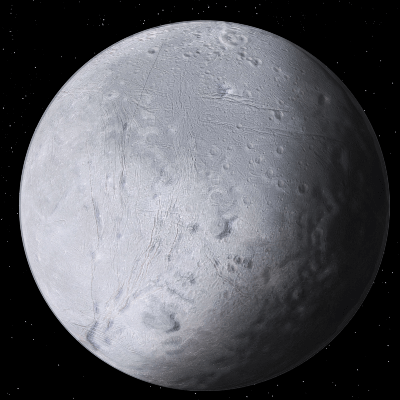 A Picture of Jupiter's Moon Dione