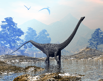 An illustration of the Diplodocus, which was a Sauropoda dinosaur