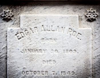 A picture of the engraving on the tombstone for Edgar Allan Poe