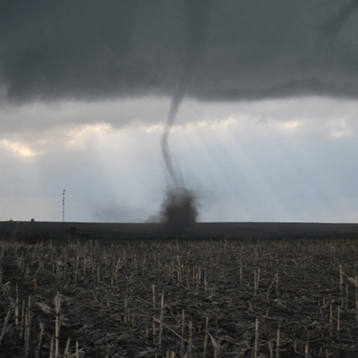 A Picture of a EF0 Tornado Funnel