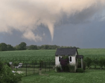 A Picture of an EF0 tornado on 07-12-2017