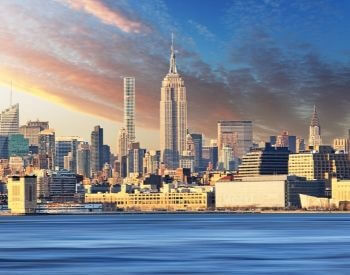 A picture of the NYC Skyline and the Empire State Building