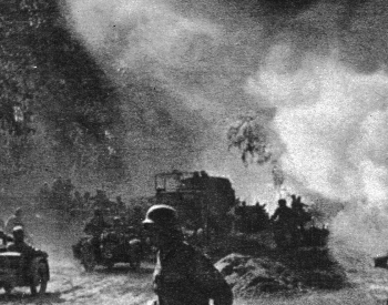 A photo of armed forces during the Battle of Kursk