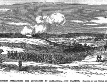 An illustration of the First Battle of Bull Run