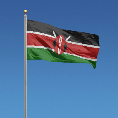 A Picture of the Flag of Kenya