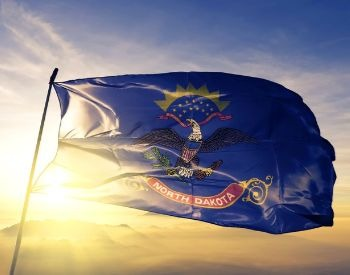 A picture of the flag of the U.S. state of North Dakota