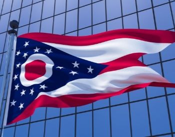 A picture of the flag of the U.S. state of Ohio