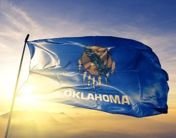 A picture of the flag of the U.S. state of Oaklahoma