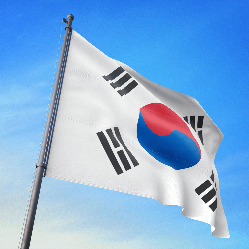 A Picture of the Flag of South Korea