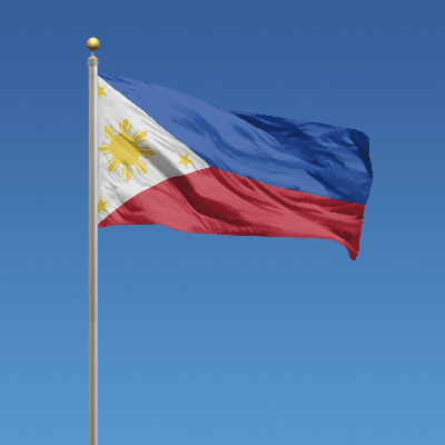 A Picture of the Flag of the Philippines