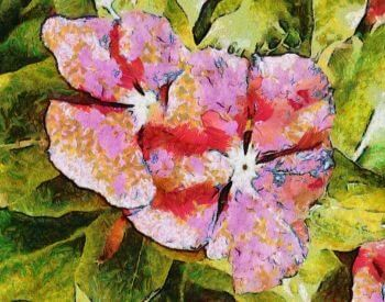 A picture of a flower painted in the style of Vincent Van Gogh