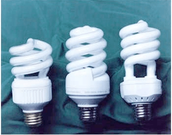 A picture of a few fluorescent light bulbs