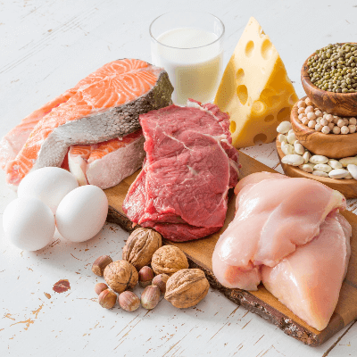 A Picture of Foods with Protein