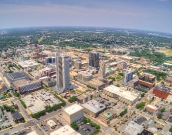 A picture of Fort Wayne, the second most populated city in Indiana