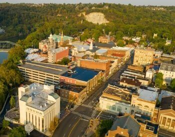 A picture of Frankfort, the capital city of Kentucky, USA