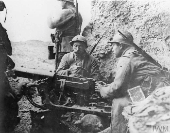 A picture of French troops at the Battle of Verdun