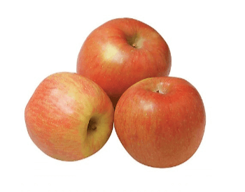 A picture of fuji apples