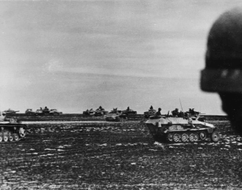 A picture of the 24th Pazner Divison (Germans) heading to Stalingrad