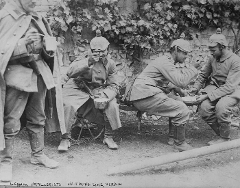 A picture of German troops at the Battle of Verdun