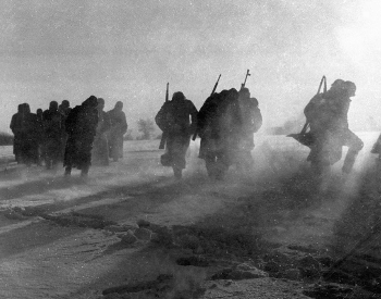 A picture of surrendered German Troops near Moscow, Russia