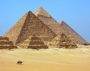 A picture of the Giza Egyptian Pyramids