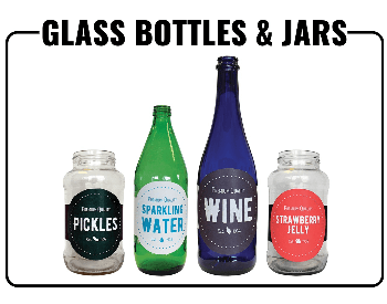 A picture showing what glass products you can recycle