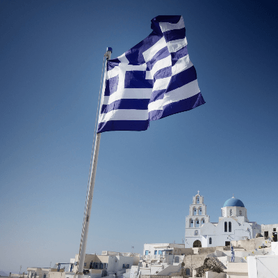 A Picture of Greece Flag