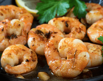 A picture of grilled shrimp