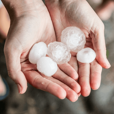 A Picture of Hail from a Hailstorm
