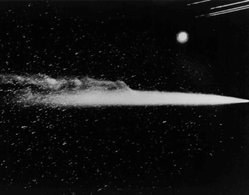 A photo of Halley's Comet in 1910
