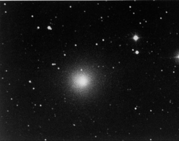 A photo of Halley's Comet in 1985