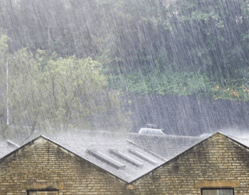 Heavy rain on a roof