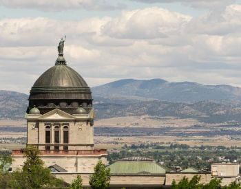 A picture of Helena, the capital city of Montana