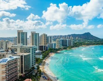A picture of Honolulu, HI the state capital of Hawaii