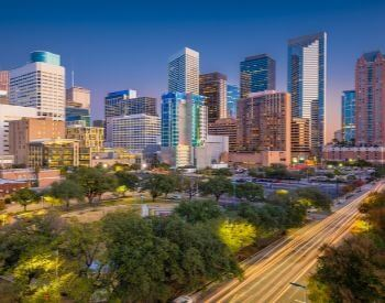 A picture of Houston, the most populated city in Texas