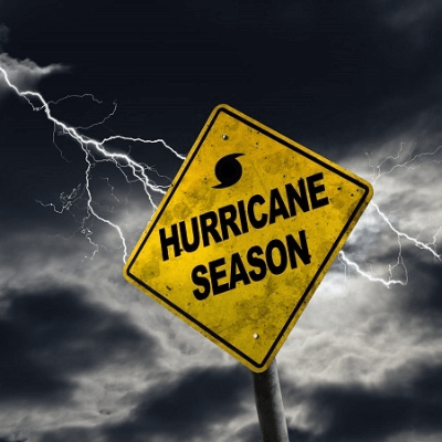A Picture of a Sign Saying Hurricane Season