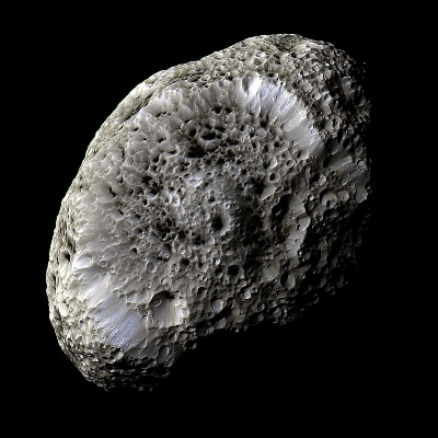 A Picture of Saturn's Moon Hyperion