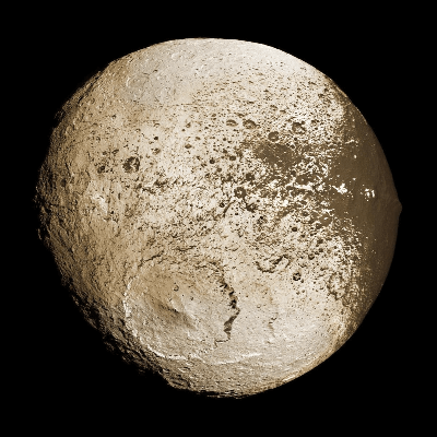 A Picture of Saturn's Moon Iapetus