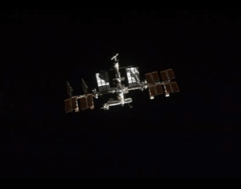 A picture of the International Space Station on July 10th, 2011