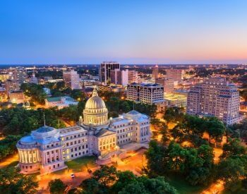 A picture of Jackson, the capital city of Mississippi