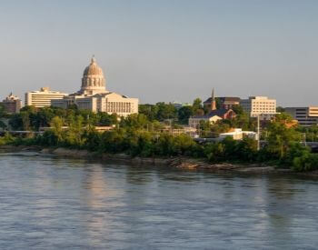 A picture of Jefferson City, the capital city of Missouri