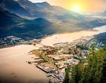 A picture of Juneau, the capital city of Alaska