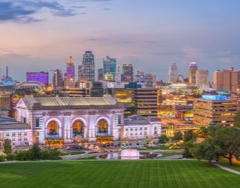 A picture of Kansas City, the largest city in Missouri