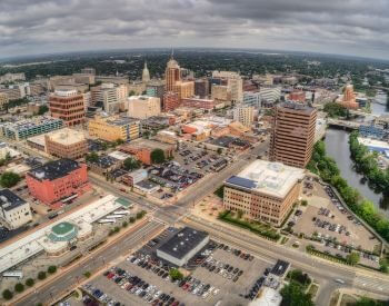 A picture of Lansing, the capital city of Michigan