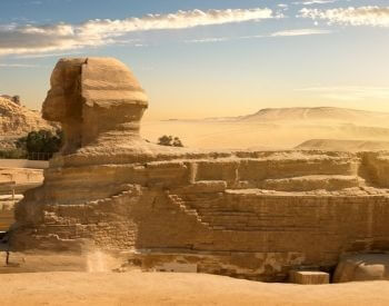 A picture of the left side of the Sphinx