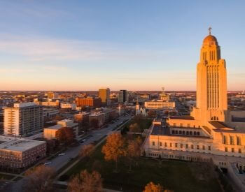 A picture of Lincoln, the capital city of Nebraska