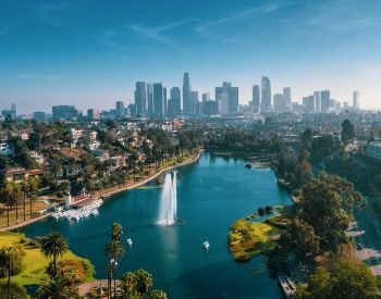 A picture of Los Angeles, the most populated city in California