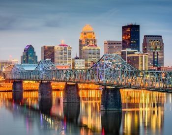 A picture of Louisville, the most populated city in Kentucky, USA
